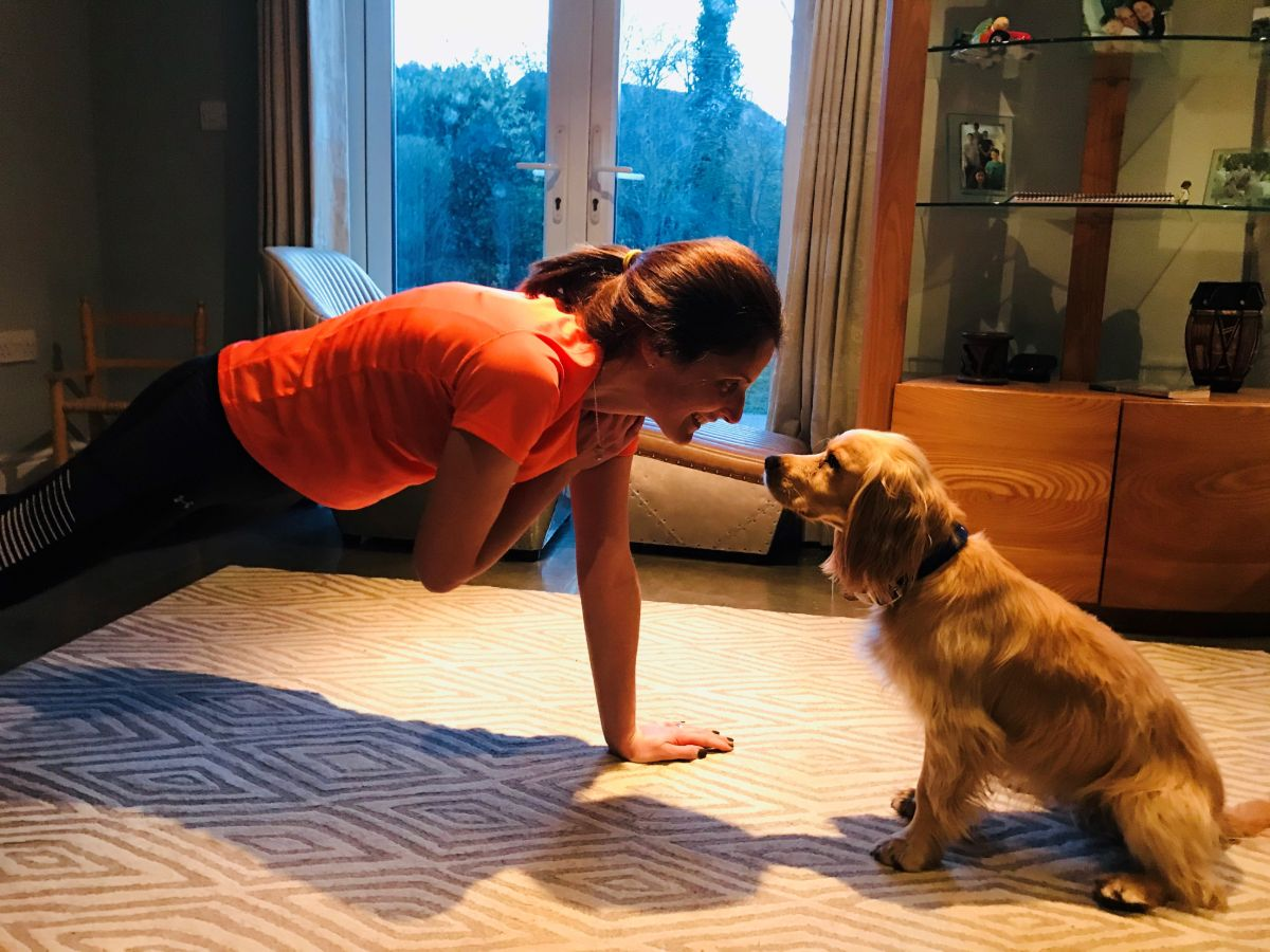 workout with 4 legged friend